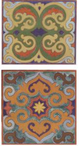 """Tatar ethnic motifs from  """"Tatar ethnic ornaments"""" by F. Valeev"""