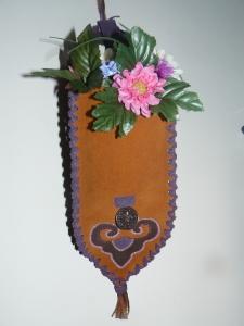 brown flower holder