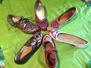 Tatar shoes in form of the sun