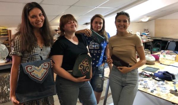 Young ladies of Bulgari company